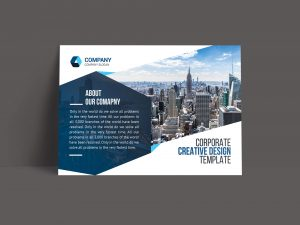 Print Corporate Postcard Template
